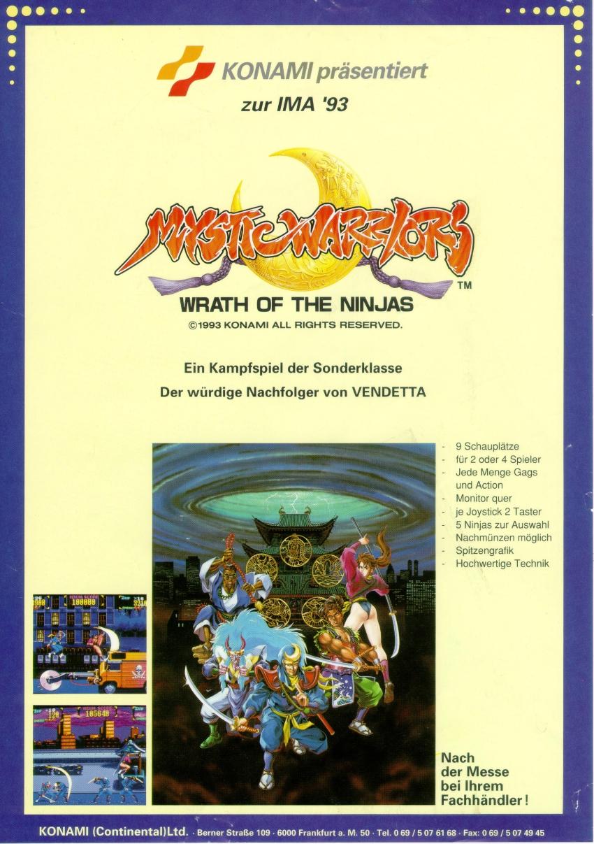 Mystic Warriors (ver EAA) ROM