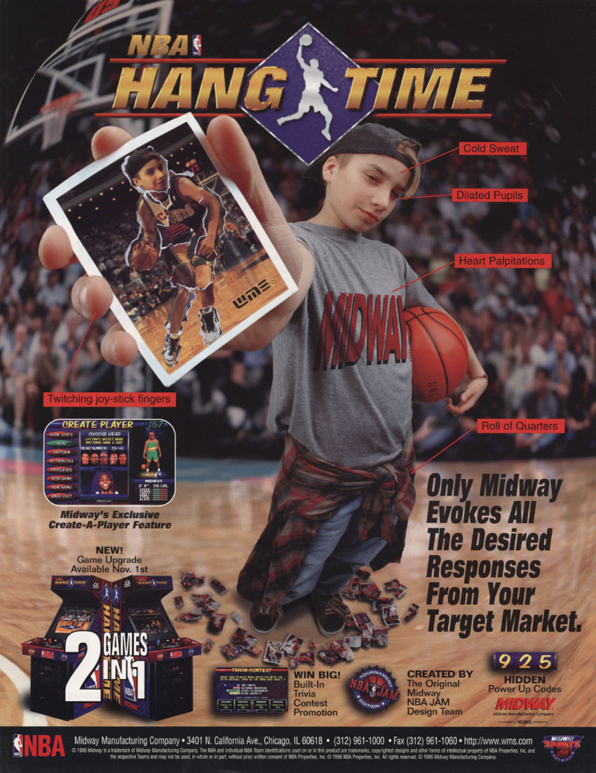NBA Hangtime (rev L1.1 04/16/96) flyer