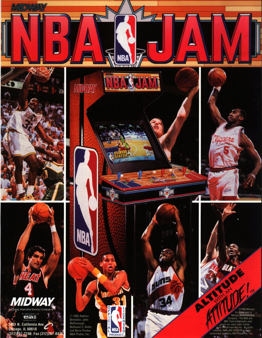 NBA Jam (rev 3.01 04/07/93) flyer