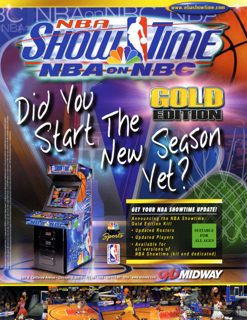 NBA Showtime / NFL Blitz 2000 (ver 2.1) flyer