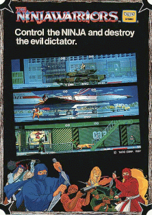 The Ninja Warriors (World) flyer