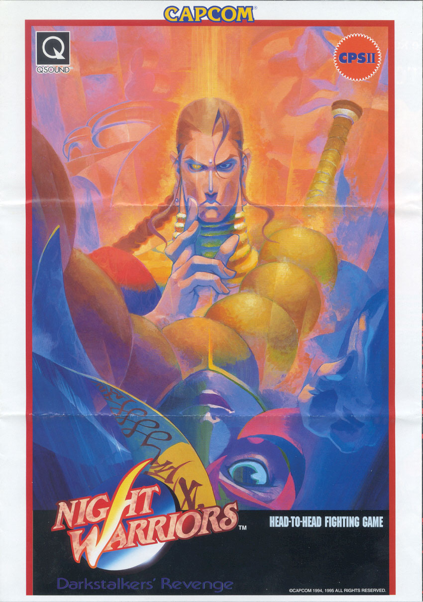 Night Warriors: Darkstalkers' Revenge (Euro 950316) flyer