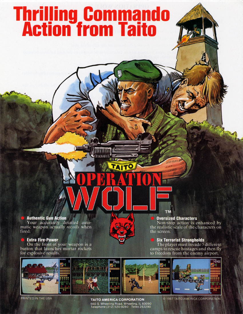 Operation Wolf (US) flyer