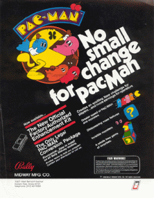 Pac-Man (Galaxian hardware, set 1) flyer