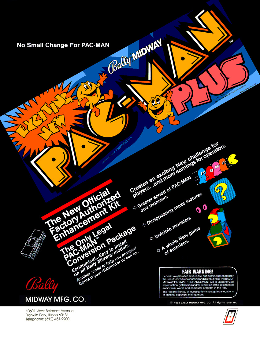 Pac-Man Plus flyer