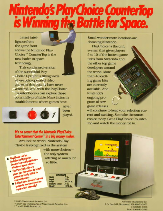 Gradius (PlayChoice-10) flyer