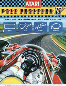 Pole Position II (Atari) flyer