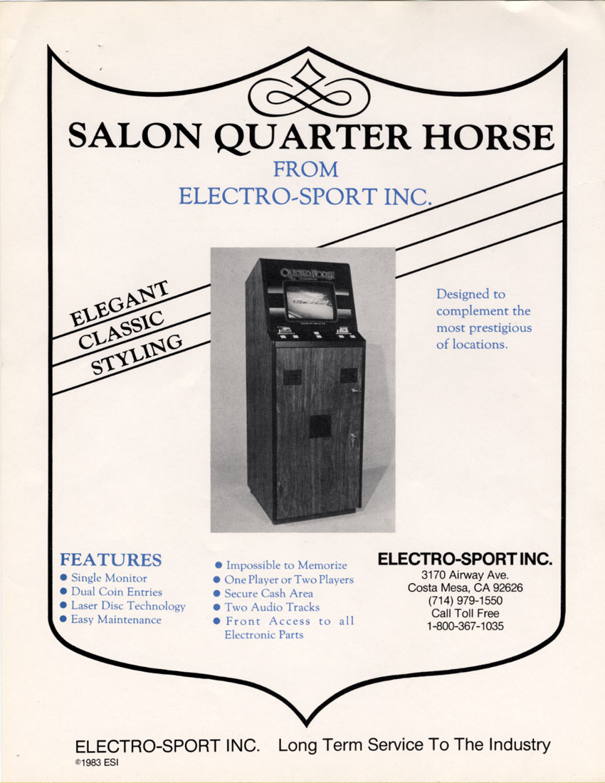 Quarter Horse (set 1, Pioneer PR-8210) flyer
