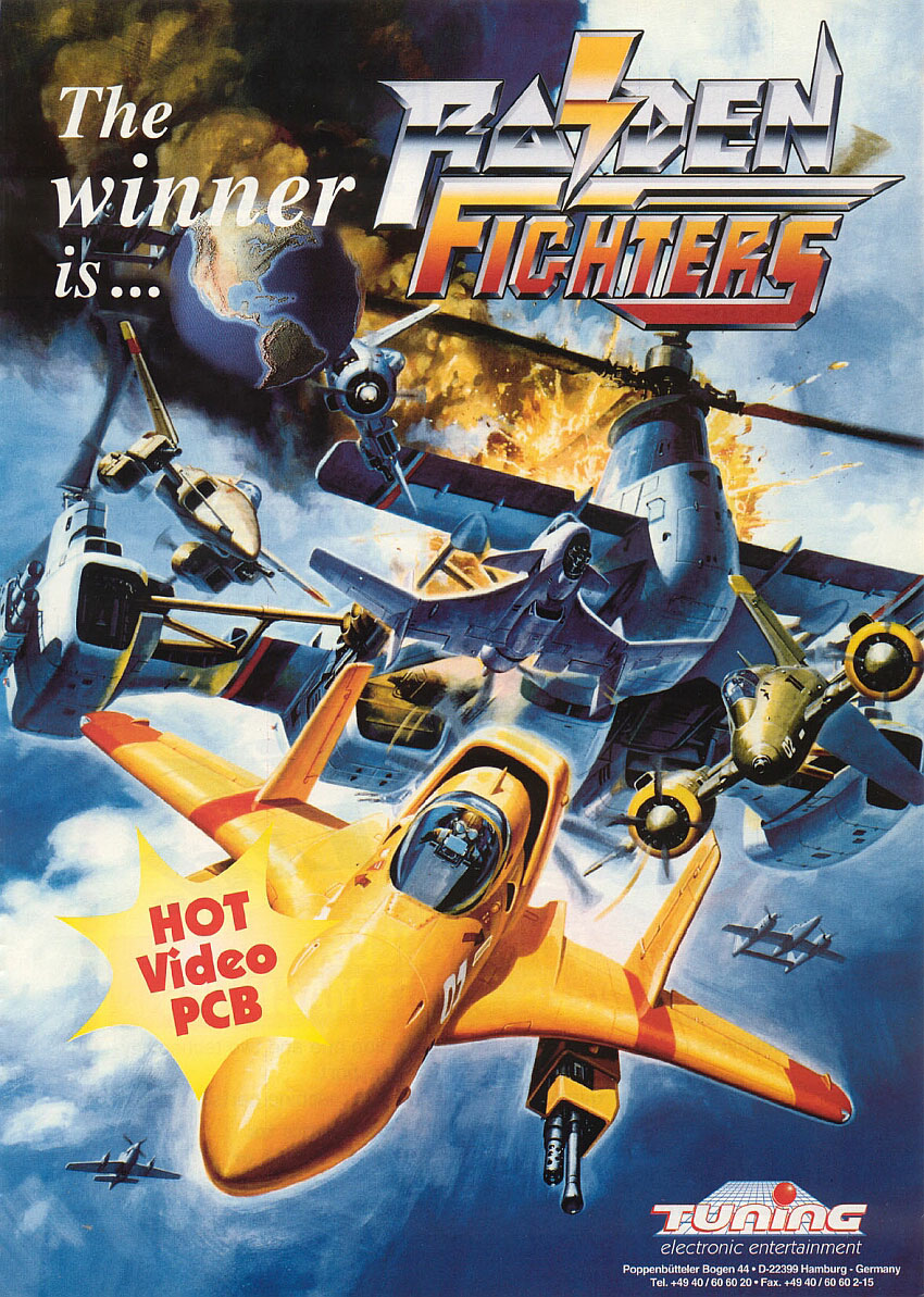 Raiden Fighters 2 - Operation Hell Dive (US) flyer