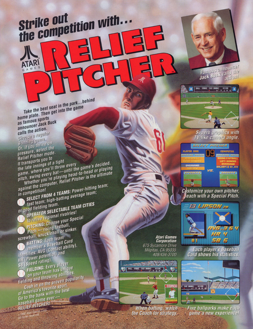 Relief Pitcher (set 1, 07 Jun 1992 / 28 May 1992) flyer
