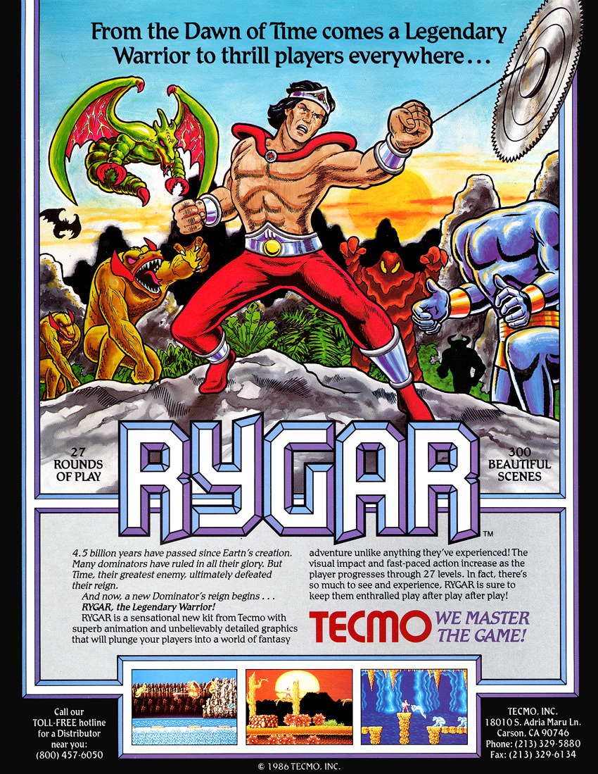 Rygar (US set 1) flyer