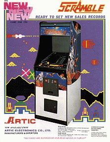 Scramble (bootleg on Galaxian hardware) flyer