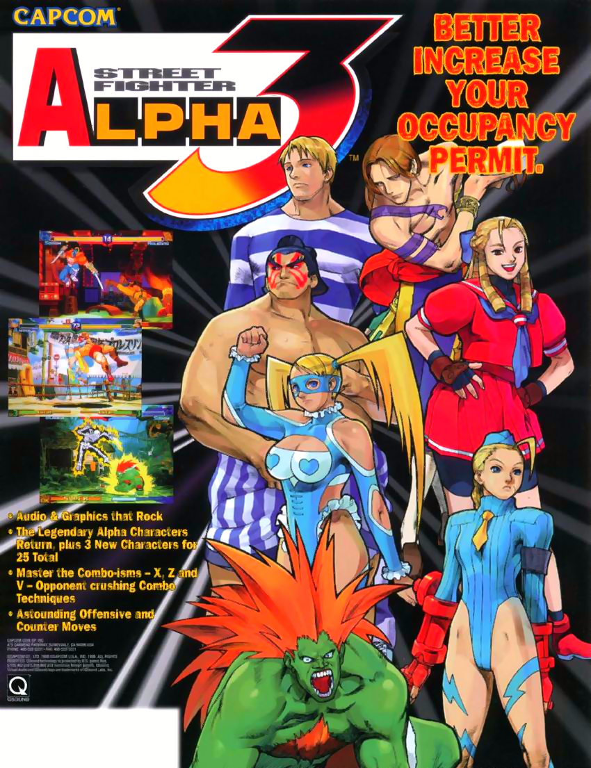 Street Fighter Alpha 3 (Euro 980904) flyer