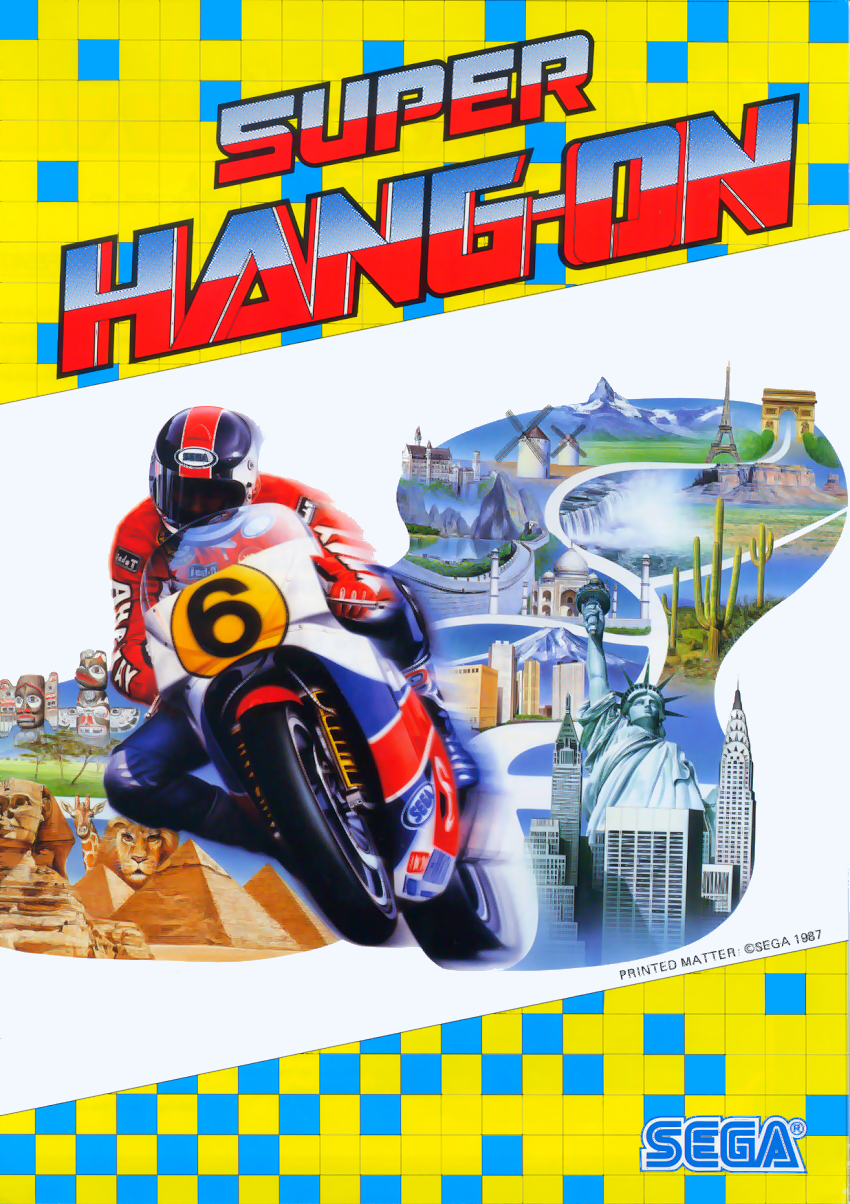 Super Hang-On (sitdown/upright) (unprotected) flyer