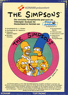 The Simpsons (2 Players World, set 1) flyer