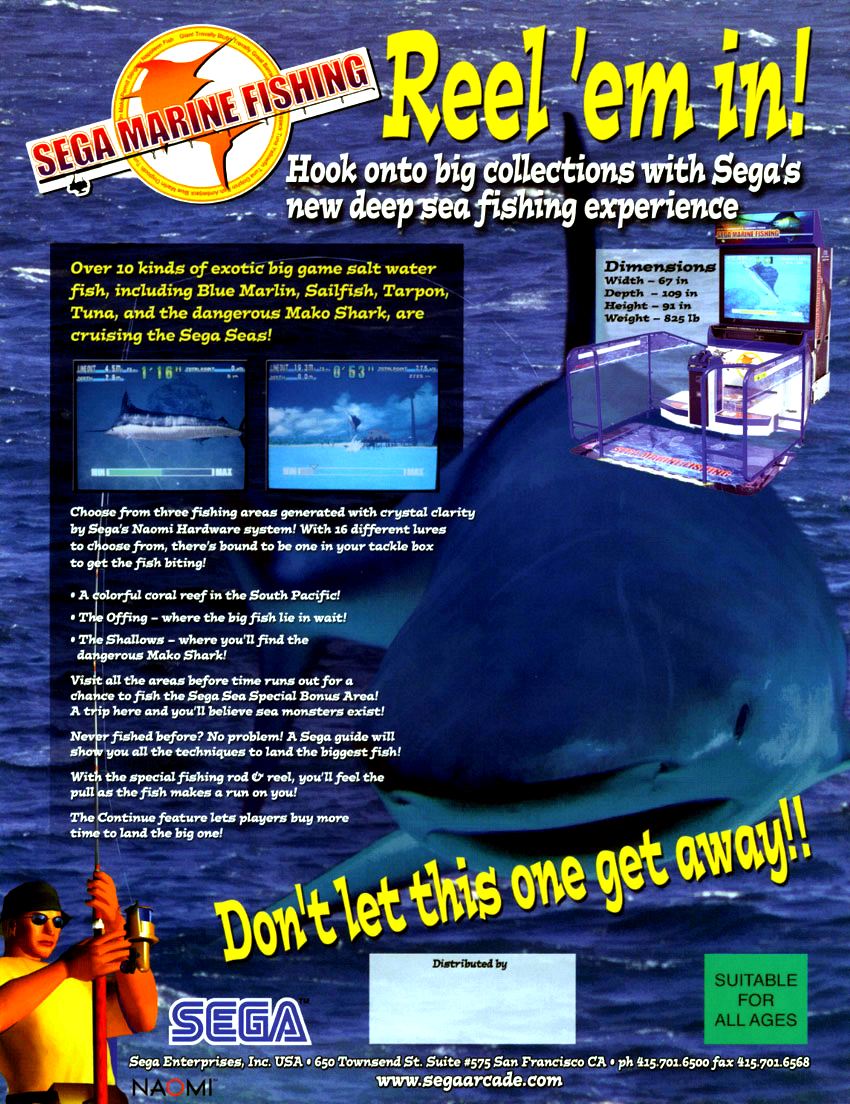 Sega Marine Fishing flyer