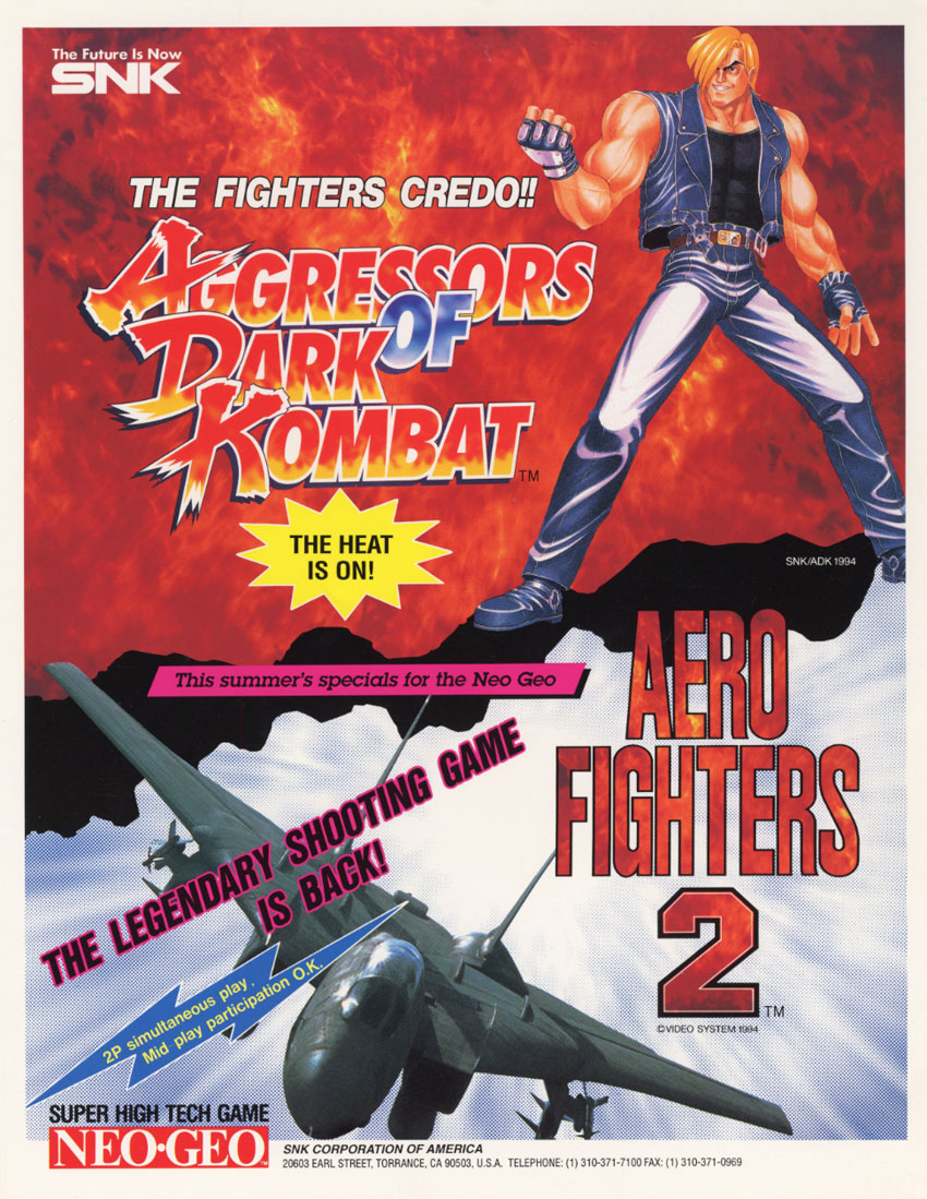 Aero Fighters 2 / Sonic Wings 2 flyer