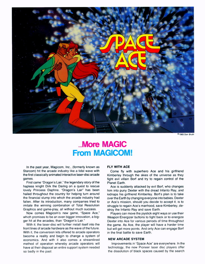 Space Ace (US Rev. A3) flyer