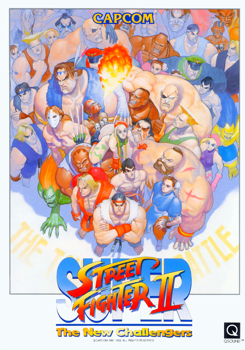 Super Street Fighter II: The New Challengers (Asia 930914) flyer