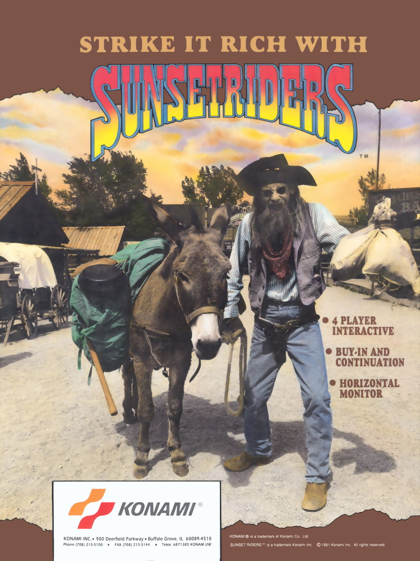 Sunset Riders (4 Players ver EAA) flyer