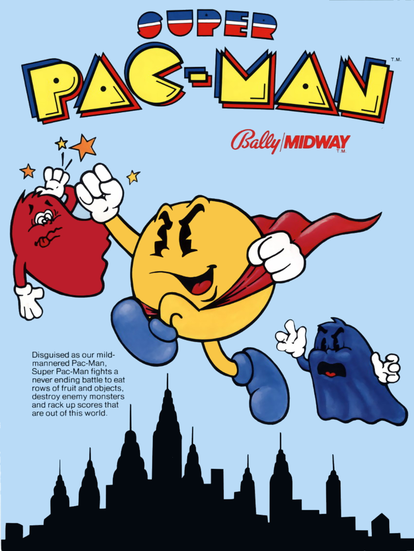 Super Pac-Man (Midway) flyer