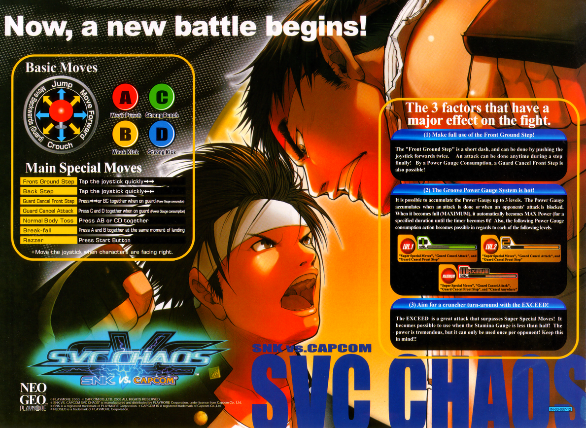 SNK vs. Capcom: SVC Chaos flyer