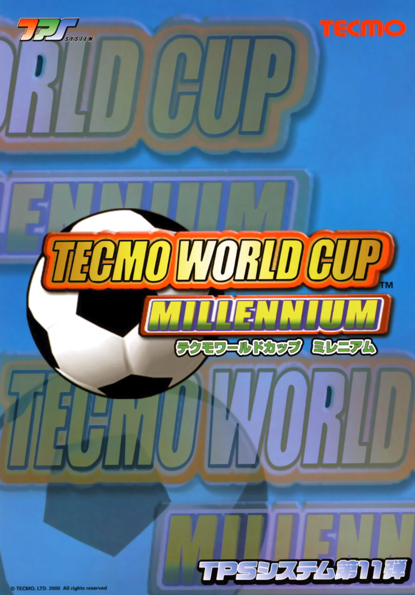 Tecmo World Cup Millennium (Japan) flyer