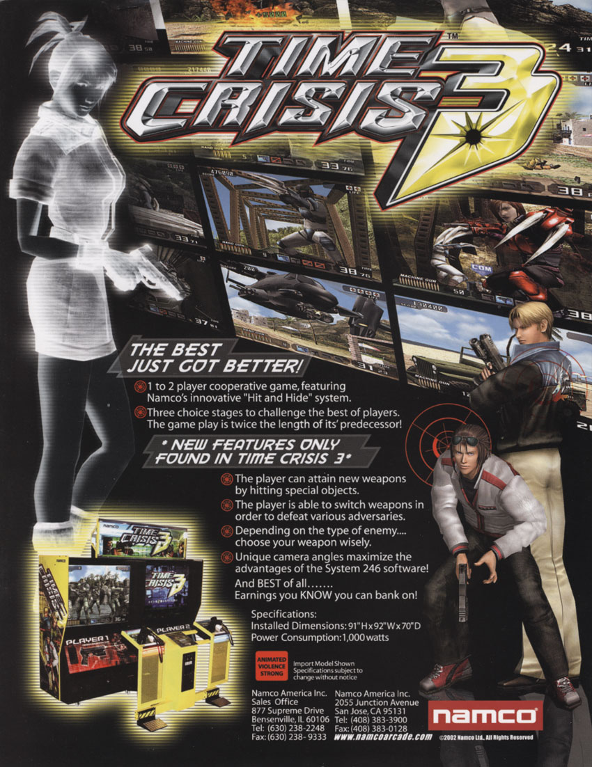 Time Crisis 3 (TST1) flyer