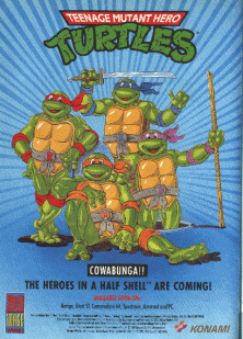 Teenage Mutant Hero Turtles (UK 4 Players, version F) flyer