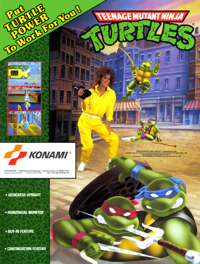 Teenage Mutant Ninja Turtles (World 4 Players, version X) ROM ...