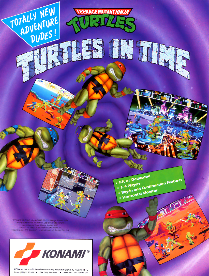 Teenage Mutant Ninja Turtles - Turtles in Time (4 Players ver UAA) flyer
