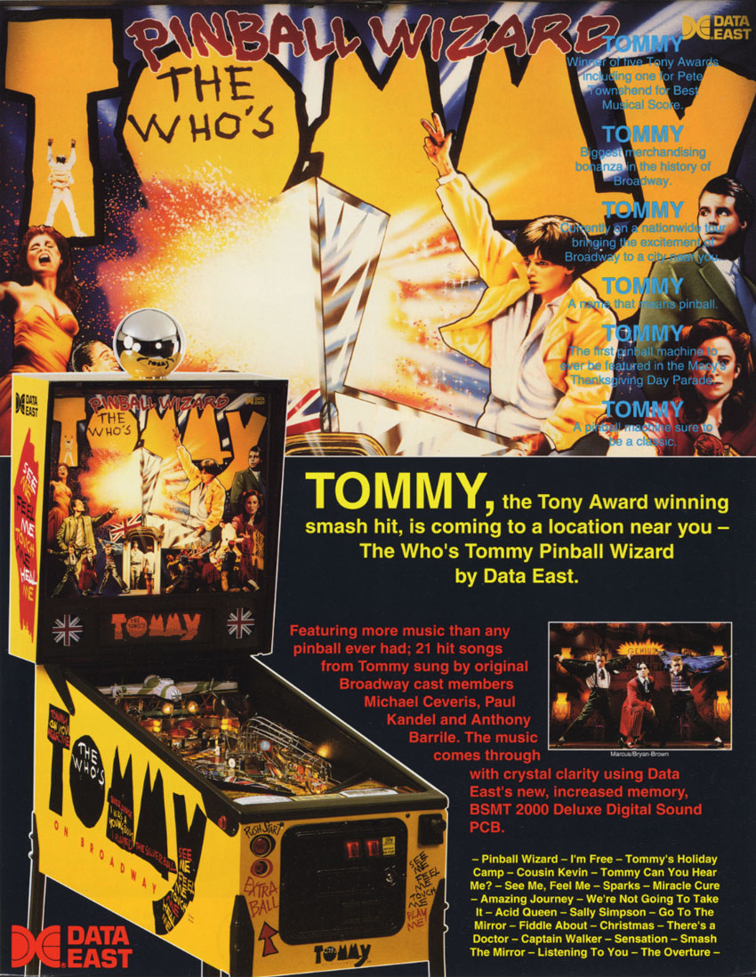 The Who's Tommy Pinball Wizard (4.00) flyer