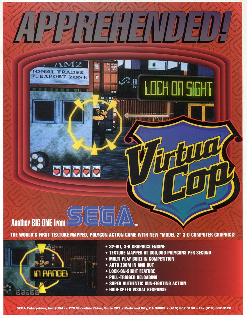 Virtua Cop (Revision B) flyer