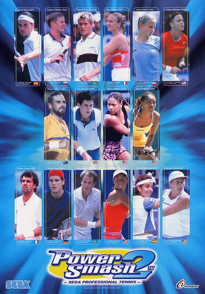 Virtua Tennis 2 / Power Smash 2 (Rev A) flyer