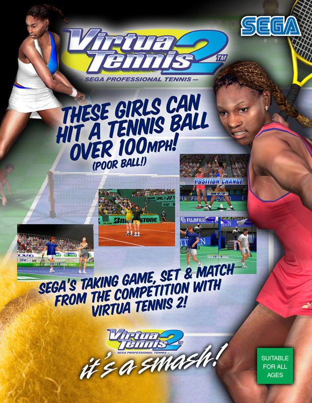 Virtua Tennis 2 / Power Smash 2 (Rev A) (GDS-0015A) flyer