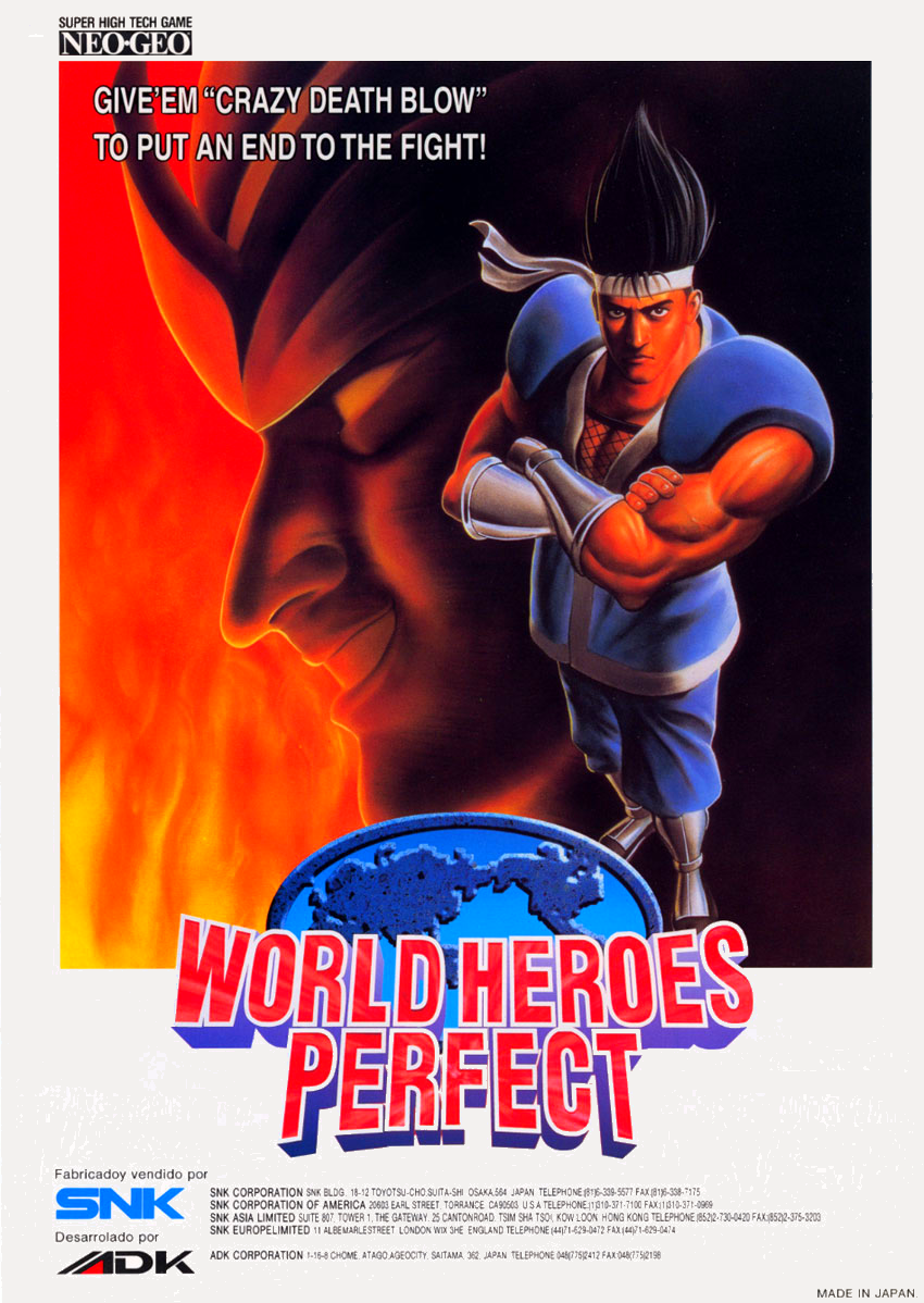 World Heroes Perfect flyer