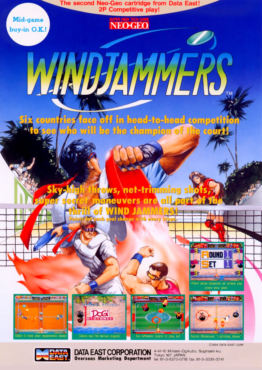 Windjammers / Flying Power Disc flyer