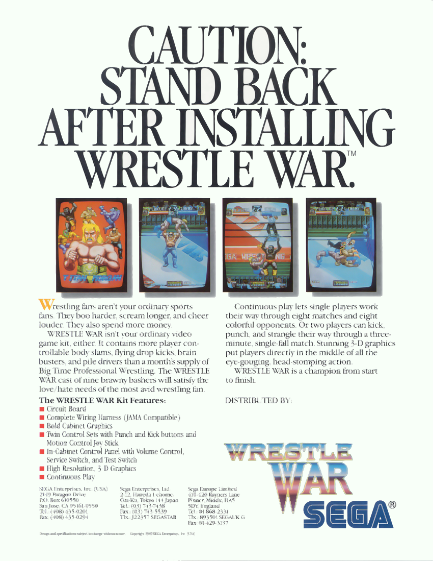 Wrestle War (set 3, World) (8751 317-0103) flyer