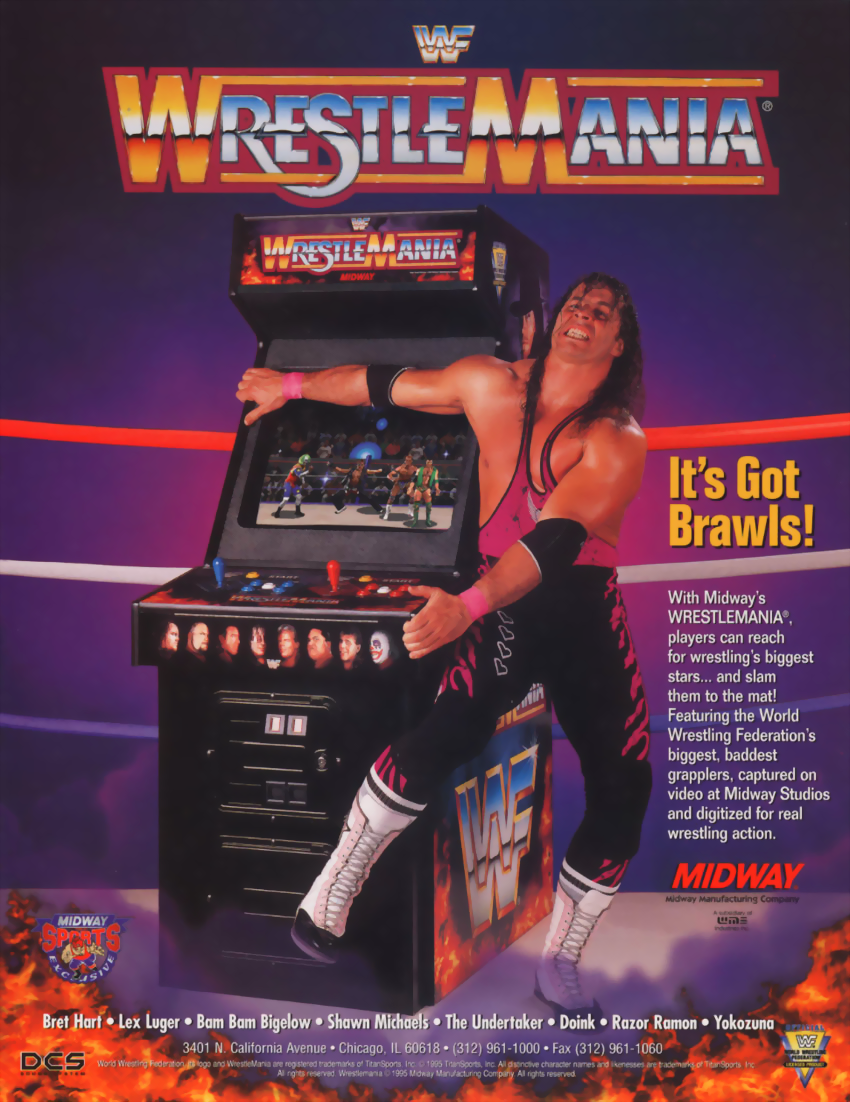 WWF: Wrestlemania (rev 1.30 08/10/95) flyer
