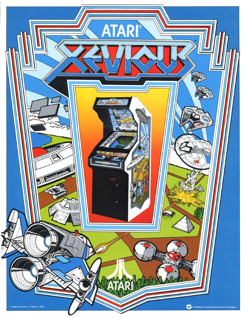Xevious (Atari, harder) flyer