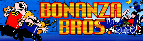 Bonanza Bros (US, Floppy DS3-5000-07d? Based) Marquee