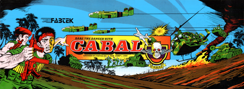 Cabal (World, Joystick) Marquee