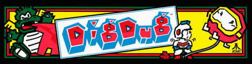 Dig Dug (rev 2) Marquee