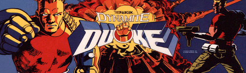 Dynamite Duke (Europe, 03SEP89) Marquee