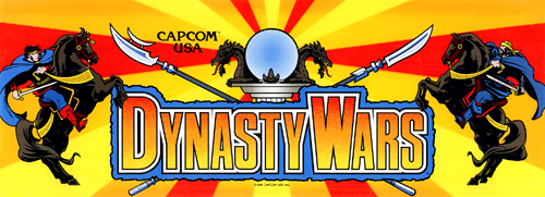 Dynasty Wars (USA, B-Board 89624B-?) Marquee
