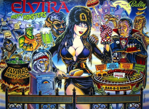 Elvira and the Party Monsters (LA-4) Marquee