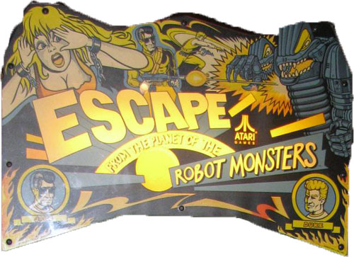 Escape from the Planet of the Robot Monsters (set 1) Marquee