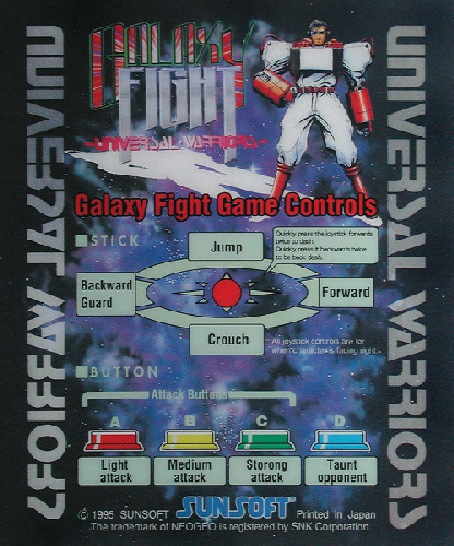 Galaxy Fight - Universal Warriors Marquee