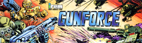 Gunforce - Battle Fire Engulfed Terror Island (World) Marquee