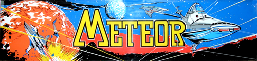 Meteor (bootleg of Asteroids) Marquee